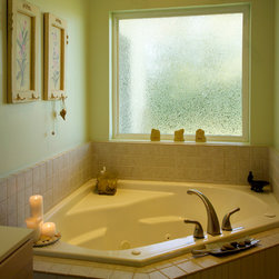 Valentin Install - Picture window with obscure glass for privacy in your bathroom.