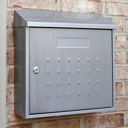 Samai Maxi Locking Wall-Mount Stainless Steel Mailbox - Durable and modern, the Samai Maxi Locking Wall-Mount Stainless Steel Mailbox resists corrosion and it has a contemporary style. The extra wide size will also meet various types of mail needs.