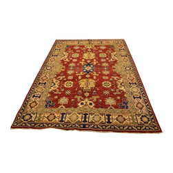 1800-Get-A-Rug - Red Oriental Rug Super Kazak Hand Knotted Rug Sh12013 - About Tribal & Geometric
