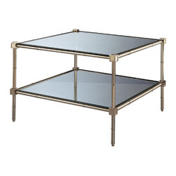 Robert Abbey - Robert Abbey Jonathan Adler Meurice Two Tier Coffee Table S658 - Two Tier Coffee Table
