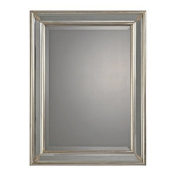 Ren-Wil - Ren-Wil Wall Mirror with Silver Leaf Border - 26W x 34H in. - MT941 - Shop for Mirrors from Hayneedle.com! Modern charm with traditional accents make the Ren-Wil Wall Mirror with Silver Leaf Border - 26W x 34H in. an accessory you won't want to leaf alone. The beveled-edge rectangular mirror adds light to any space. A metal frame features a stunning silver leaf finish for depth and beauty you'll love.