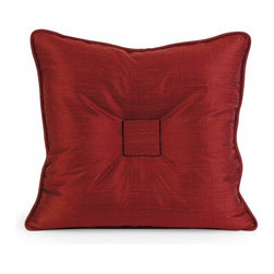iMax - iMax IK Paola Thai Silk Pillow with Down Fill X-27124 - Iffat Khan has developed a luxurious collection of down pillows with Thai silk fabrics. Iffat's refined aesthetic is evident in her collection which combines clean modern, classic casual and timeless traditional styles with her own creative twist.