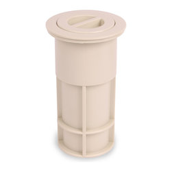 """Color Match Pool Fittings - Umbrella Pole Holder Set 5-inch, Bone - Perfect for umbrellas, volleyball poles and tiki torches. Both our 5-inch pole holders are designed to hold a 1 ½"""" diameter pipe. Unique press-in flange fits inside pole holder with no glue needed.  Flange can be removed for easy replacement."""