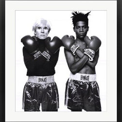 Andy Warhol and Jean Michel Basquiat - Jean-Michel Basquiat Popart Pop Art - This is a Museum Quality Fine Art Print FRAMED PRINT