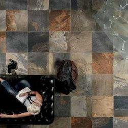 Natural Slate Porcelain Tile - Slaty - Britain's Tile of the Year 2012