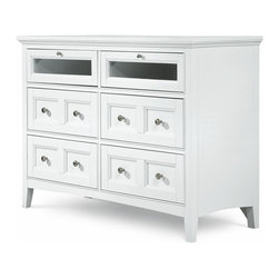 Magnussen - Magnussen Kentwood 6 Drawer Media Chest in Painted White Finish - Magnussen - Chests - B147536 - About This Product: