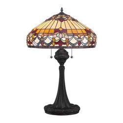 Quoizel Lighting - Quoizel TF1511TVB Tiffany Vintage Bronze Table Lamp - 2, 75W A19 Medium
