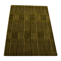 2X3 Mat Oriental Rug, Modern Sage Green Hand Knotted 100% Wool Area Rug SH12258 - Our Modern & Contemporary Rug Collections are directly imported out of India & China.  The designs range from, solid, striped, geometric, modern, and abstract.  The color schemes range from very soft to very vibrant.