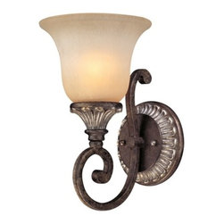 Dolan Designs Lighting - Single-Light Sconce - 1076-162 - Traditional verona 1-light sconce. Takes (1) 60-watt incandescent A19 bulb(s). Bulb(s) sold separately. UL listed. Dry location rated.