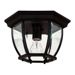 Kenroy Home - Kenroy 16277BL Dural 1 Light Flush Mount - Dural captures old world charm in an updated scale and at value oriented price points.  Traditional and sophisticated, with collection will brighten your outdoors.
