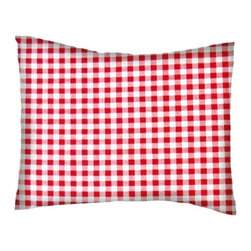 SheetWorld - SheetWorld Twin Pillow Case - Percale Pillow Case - Red Gingham Check - Pillow case is made of a durable all cotton percale/woven material. Fits a standard twin size pillow. Side Opening. Features a red gingham check print.