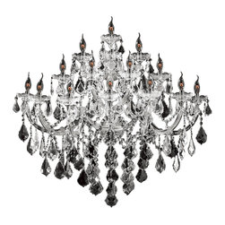 Worldwide Lighting - Maria Theresa 15 Light Chrome Finish Crystal Wall Sconce Light, Large - This stunning 15-light Wall Sconce only uses the best quality material and workmanship ensuring a beautiful heirloom quality piece. Featuring a radiant chrome finish and finely cut premium grade crystals with a lead content of 30%, this elegant wall sconce will give any room sparkle and glamour. Worldwide Lighting Corporation is a privately owned manufacturer of high quality crystal chandeliers, pendants, surface mounts, sconces and custom decorative lighting products for the residential, hospitality and commercial building markets. Our high quality crystals meet all standards of perfection, possessing lead oxide of 30% that is above industry standards and can be seen in prestigious homes, hotels, restaurants, casinos, and churches across the country. Our mission is to enhance your lighting needs with exceptional quality fixtures at a reasonable price.