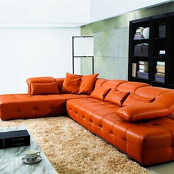Elite Tufted Italian Sectional Upholstery - Combines both elegance and comfort