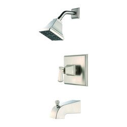 Pegasus - Pegasus Exhibit Single Handle Tub and Shower Faucets in Brushed Nickel - Exhibit Single Handle Tub and Shower Faucet in Brushed Nickel