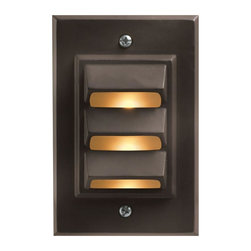 Hinkley - Hinkley One Light Bronze Deck Light - 1542BZ-LED - This One Light Deck Light is part of the Led Deck Collection and has a Bronze Finish. It is Outdoor Capable, and LED.