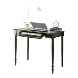 """Convenience Concepts - Convenience Concepts Desk X-9912406 - The Black French Country desk offers a 36"""" workspace is the perfect size for any project. It features a drawer that slides the keyboard tray in a exceptional smooth motion. A sturdy piece that is perfect for work desk, ideal for home office or living room!"""