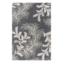 Chandra - Chandra Rowe Transitional Hand Tufted Floral Rug X-32-70111WOR - Chandra Rowe Transitional Hand Tufted Floral Rug X-32-70111WOR