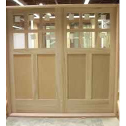 Paint Grade Carriage Pair - Paint grade poplar with MDF center panels for a garage