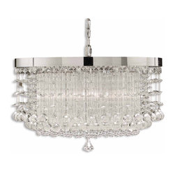 Fascination 3 Light Crystal Chandelier - *The Classic Appeal Of Crystal Is Updated For Today's Sophisticated Tastes. Chrome Plated Rim Adorned By Various Styles Of Crystal Accents.