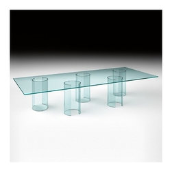 Fiam - Luxor Table, Rectangle | Fiam - Design by Rodolfo Dordoni.