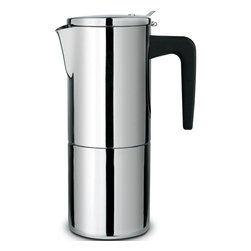 Cuisinox - Alpha 4 Cup Espresso Maker - Cuisinox Alpha has created a premium grade stovetop espresso coffeemakers with a distinguished style and hand crafted to the highest possible standards in the industry. Featuring a heavy gauge 18/10 stainless steel construction , induction base, and suitable for all cooking surfaces. This exceptional espresso coffeemaker is beautiful as well as practical.