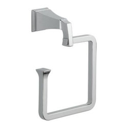 Liberty Hardware - Liberty Hardware 128886 Dryden - Delta 7.75 Inch Towel Holder - Polished Chrome - The clean lines and geometric forms of the Dryden Collection are based on style cues of the Art Deco period. The simple, yet sophisticated design, when combined with multiple finish options, creates style flexibility that's at home in settings from old-world to arts and crafts to modern.. Width - 7.75 Inch,Height - 6 Inch,Projection - 3.5 Inch,Finish - Polished Chrome,Weight - 1.85 Lbs