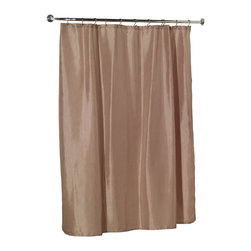 """""""Lauren"""" Dobby Fabric Shower Curtain in Linen - """"Lauren"""" dobby fabric shower curtain, 100% polyester, size 70""""x72"""", color linen. Our """"Lauren"""" Diamond-Piqued Shower Curtain will not only bring a touch of sophistication to your bathroom, it will also provide a wealth of opportunities in which to coordinate. This standard-sized (70'' wide x 72'' long) curtain is 100% polyester, machine washable, and water resistant. Here in a solid Linen, """"Lauren"""" comes in a variety of stylish colors to fit your particular needs. Also available separately are the matching """"Lauren"""" window curtain and sink drape, taking some of the guesswork out of accessorizing. Machine wash in warm water, tumble dry, low, light iron as needed"""