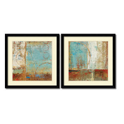 Amanti Art - Carmen Dolce 'Composition I and II- set of 2' Framed Art Print 33 x 33-inch Each - Bring a little simple chic into your decor!  This contemporary abstract art print set by Carmen Dolce offers an easy going visual poetry of shape and tone.