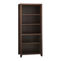 Bush - Bush Achieve 5-Shelf Bookcase with Adjustable Shelves in Sweet Cherry - Bush - Bookcases - PR67665 - Expand your Achieve Collection office suite with this matching bookcase. The bookcase features 2 fixed shelves and 3 adjustable shelves. Offered in Sweet Cherry finish.