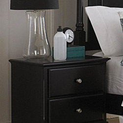 Homelegance - Morelle Nightstand (Black) - Finish: BlackTwo drawers. Dovetailed drawers with metal glides. Molded drawer fronts. Satin nickel knobs. 24 in. W x 16 in. D x 23.75 in. H