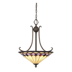 Quoizel - Quoziel PHP13657D1 Phillip 3 Light Pendant in Espresso Finish - This 3 light pendant from the Phillip collection by Quoizel will enhance your home with a perfect mix of form and function. The features include a Espresso finish applied by experts.