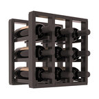 Wine Racks America® - 9 Bottle Counter Top/Pantry Wine Rack in Redwood, Black Stain + Satin Finish - These counter top wine racks are ideal for any pantry or kitchen setting.  These wine racks are also great for maximizing odd-sized/unused storage space.  They are available in furniture grade Ponderosa Pine, or Premium Redwood along with optional 6 stains and satin finish.  With 1-10 columns available, these racks will accommodate most any space!!