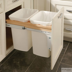 KraftMaid: Base Top Mount Wastebasket – Double - Keep your wastebasket hidden but within reach for convenient trash disposal.