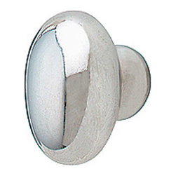 Renovators Supply - Cabinet Knobs Bright Chrome Chrome Plated Oval Cabinet Knob - The oval shape of this chrome cabinet knob adds a classic feel to any cabinet or drawer. It measures 1 in. high by 3/4 in. wide with a 1-1/4 in. projection. Mounting hardware is included.