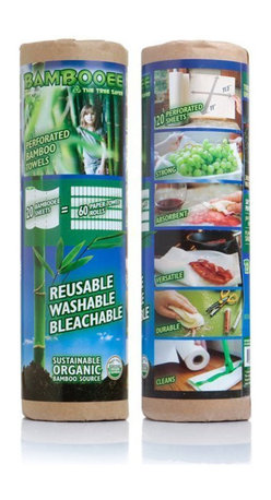 Bambooee - Bambooee Keep,a,Spare Unpaper Paper Towels Set , 2 Rolls of Bambooee Towels - Spills can strike anywhere in the home, and when those uh,oh moments happen, there's nothing more convenient than a paper towel to tackle the mess. If you want to handle those spills in the greenest way possible.