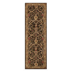 Jaipur Rugs - Hand-Tufted Arts and Craft Pattern Wool Brown/Tan Area Rug (2.6 x 8) - The Poeme Collection takes traditional designs and re-invents them in a palette of modern, highly livable colors. Each design is made from premiere hand-spun wool and crafted with precision for the look and feel of a hand-knotted rug, at the more affordable cost of a hand-tufted. Poeme will effortlessly coordinate individual design elements to finish any room.