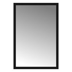 """Posters 2 Prints, LLC - 49"""" x 72"""" Soho Black Custom Framed Mirror - 49"""" x 72"""" Custom Framed Mirror made by Posters 2 Prints. Standard glass with unrivaled selection of crafted mirror frames.  Protected with category II safety backing to keep glass fragments together should the mirror be accidentally broken.  Safe arrival guaranteed.  Made in the United States of America"""