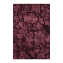 EORC - KA110PP Purple Handmade Wool Purple Dip Dyed Rug , 4' x 6' - This Beautiful and stylish handmage rug is dip-dyed to craete a dramatic splash of color.  Plush and elegant ideal for upgrading any decor.
