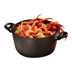 """Swiss Diamond - Induction Nonstick Stock Pot - 8.5 qt (11"""") - Slow, gentle simmering of stews and chili as well as soups and stocks on an induction cooktop is what the Nonstick Stock Pot by Swiss Diamond was designed for. Also called a cooks pot, this diamond coated pot will come in handy when you boil pasta, braise a roast, make the homemade tomato sauce you are famous for, and plenty more. Measuring 11 inches (28 cm) across with an 8.5-quart capacity, this pot will easily fit on almost all induction stove tops, and will be your favorite for many years to come! This induction stock pot comes with a heat-tempered glass lid containing an adjustable vent."""