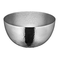 Cuisinox - 6in. Serving Bowl, Hammered Finish - The new hammered finish line is extremely popular. The line includes serving bowls all in a high gloss hammered finish.