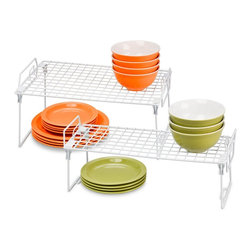 Honey Can Do Kitchen Organizer Racks, Set of 2 - I have so many dishes packed into my cupboards, and I really need to get them organized. These stands are a great way to get everything orderly.