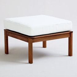 St. Martins Ottoman with Cushion - Use this piece as an ottoman or as a seat to accommodate another guest.