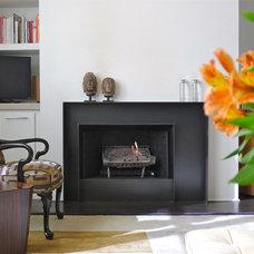 Contemporary Indoor Fireplaces by KRAMER DESIGN STUDIO