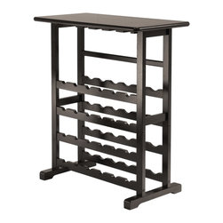 Winsome Vinny Wine Rack, 24 Bottle With Glass Hanger - Placed in a discreet corner, this offers the perfect spot to mix before-dinner cocktails and store the perfect wine pairings for elegant dinners.