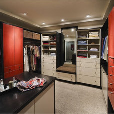 Contemporary Closet by Cabinet Innovations