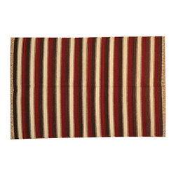 Flat Weave Hand Woven Reversible 100% Wool Durie Kilim 5'x7' Rug SH15769 - Soumaks & Kilims are prominent Flat Woven Rugs.  Flat Woven Rugs are made by weaving wool onto a foundation of cotton warps on the loom.  The unique trait about these thin rugs is that they're reversible.  Pillows and Blankets can be made from Soumas & Kilims.