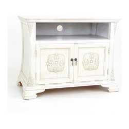 Wayborn - Wayborn Medallion TV Cabinet in Whitewash - Wayborn - TV Stands - 5609W -
