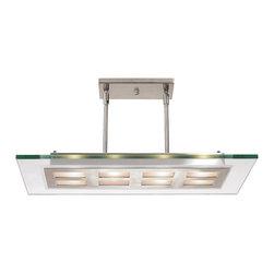 Access Lighting - Access Lighting 50108-BS/CLR Adjustable Glass and Metal Pendant - Access Lighting 50108-BS/CLR Aquarius Adjustable Glass and Metal Pendant