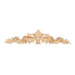 GlideRite - Hand-carved Solid Hardwood Grape Leaf Applique - Enhance your cabinets or other furniture with this ornamental hand-carved solid hardwood applique. This piece can be used to enhance any room in your home.