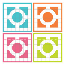 """WallPops - Chroma 4 Piece Calendar Wall Art Decal Kit - Featuring today's  trendiest colors in the spectrum! The Chroma Dry-Erase 4-Piece Calendar Set  is a fun and colorful take on the classic Greek key motif.  Chroma 4 Piece Calendar Set WallPops has  four 13"""" x 13"""" dry-erase sheets and includes a dry-erase  marker.  WallPops are always  repositionable and removable."""
